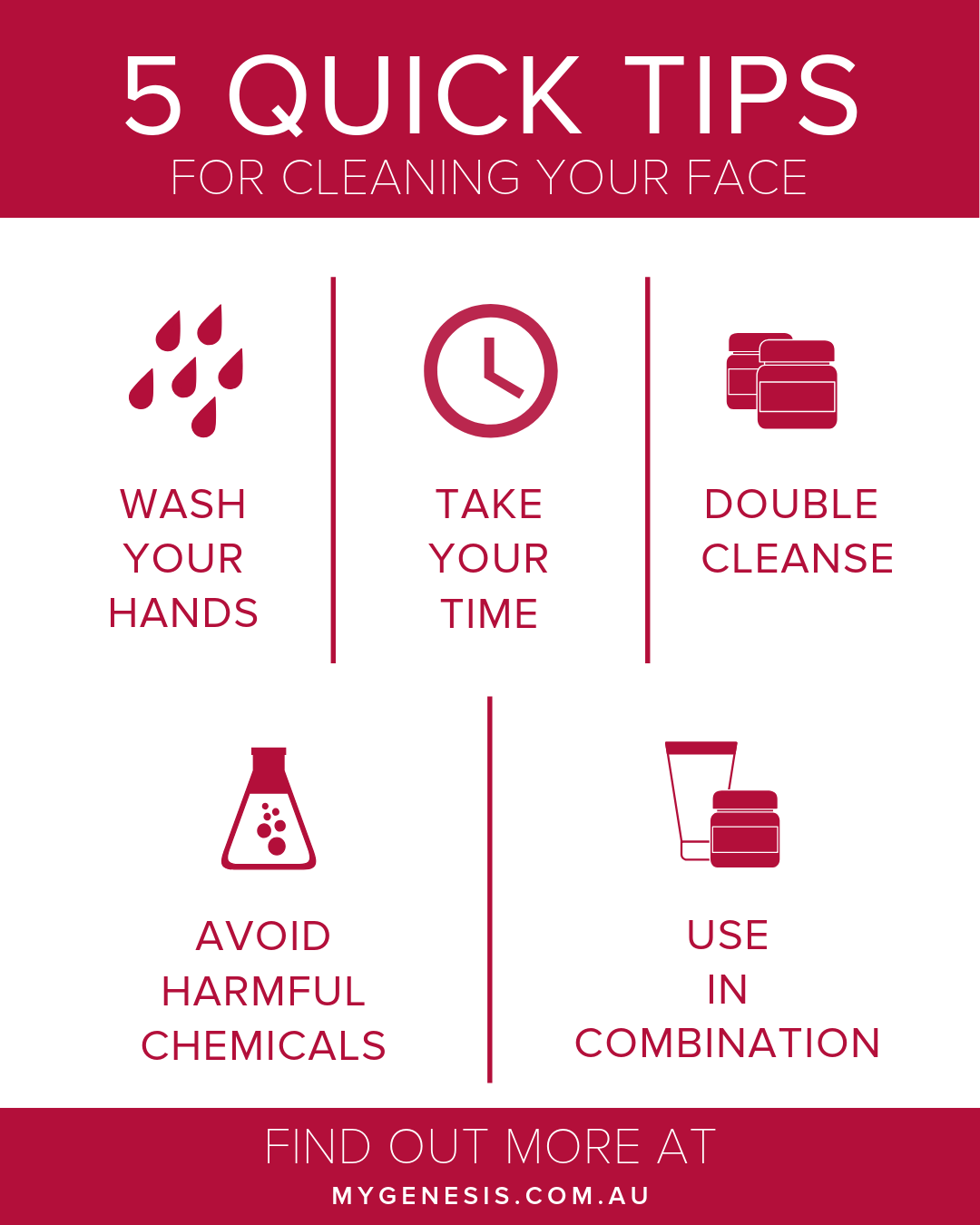 How to Cleanse Your Skin The Right Way - My Genesis